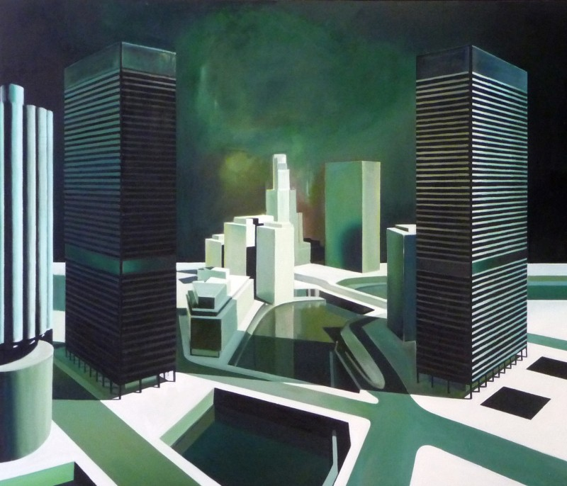 'Darkness at Noon', Oil on Canvas, 5.5ft x7ft, 2013.